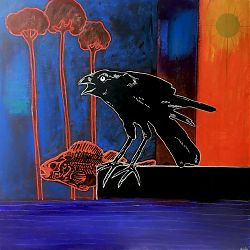 I am a Crow in a World of Fish by Paul Roy, Luan Gallery Art Fair
