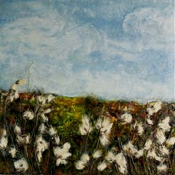 Title:Standing Tall II Artist:Rosemarie Langtry Year:2019 Medium:Encaustic Mixed medium Dimensions:70 x 70 cm  Price:€595