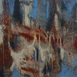 Title: A Progression Artist: Ann Mina Year: 2020 Medium:Oil on cradled panel  Dimensions:40x20cm Price:€400