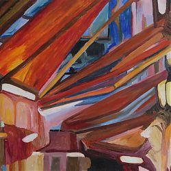 Title: Brussels' Restaurants Artist: Brid Shinners Year: 2020 Medium: Acrylics Dimensions: 26x18cm Price: €60