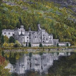 Title: Kylemore Abbey  Artist: Caithriona Devine Year:2019 Medium:Oil  Dimensions: 36 x 30cm without frame Price:€270