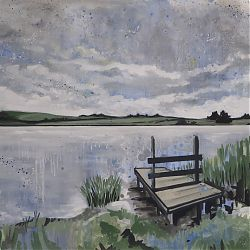 Title:Pallas Lake  Artist:David Fox  Year:2020  Medium:Oil on Canvas  Dimensions:71x100cm  Price:€1200