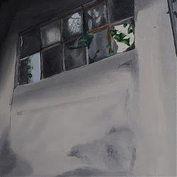 Title:Broken Window Artist:Theresa Whelan Year:2020 Medium:Oil on Canvas Dimensions:50cm x  40cm Price:€200