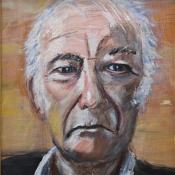 Title: Seamus Heaney  Artist: Gerry O'Connor  Year: 2019  Medium: oil Dimensions: 48x38cm Price: €850