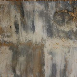 Title: Golden White Grey Abstract Artist: Maren Palm Year:2019 Medium: Acrylic, resin, gold-leaf Dimensions:120x80x4cm Price:€800