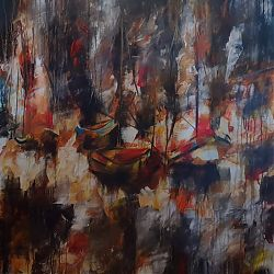 Title:Sailing Artist:Yassine Imejjat Year:2020 Medium:Acrylic on canvas Dimensions:110x76cm Price:€800