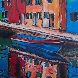 Title:Venice Artist:Yassine Imejjat Year:2020 Medium:Acrylic on canvas Dimensions:110x76cm Price:€700