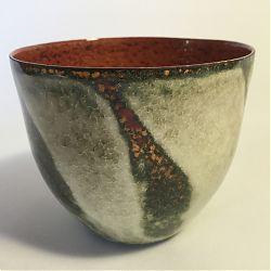 Title:Lichen II Artist:Susan Mannion Year:2019 Medium:Enamel on Copper Vessel Dimensions:6cm x 6cm x 6cm Price:€110