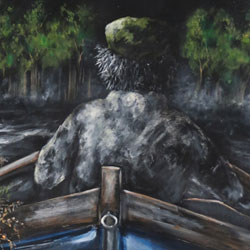 Title:Last Pull Artist:Non Waters Year:2020 Medium:Acrylic on Canvas Dimensions: 152cm (H) x 91cm (W) Price:€2700