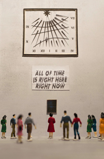 """All of the Time is Right Here Right Now by Mimi Seery as part of her Instagram series """"The Miniature Museum of Public Art"""""""