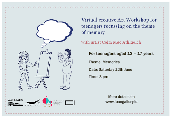 Teenagers Virtual Workshop with Colm Mac Athlaoich as part of Cruinniú na nÓg