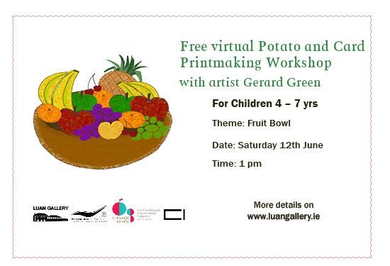 Free Virtual Potato and Card printmaking workshop with Gerard Green on Cruinniú na nÓg