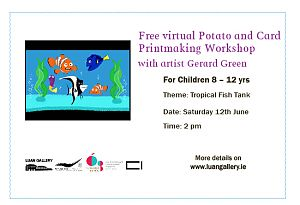Free Virtual Potato and Card printmaking workshop with Gerard Green on Cruinniú na nÓg