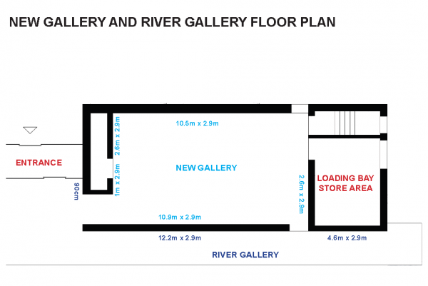 New Gallery and River Gallery floorplan