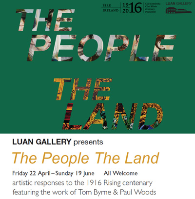 "Luan Gallery presents ""The People, The Land"" a two man exhibition showing for the months of May and June showcasing the works of two male mid career artists: Tom Byrne and Paul Woods."