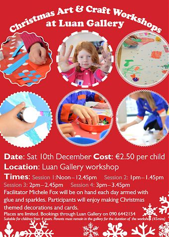 Christmas Art & Craft workshop flyer
