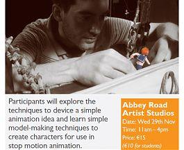 Animation Model Making Workshop with IFA award winning Westmeath Animator Jason Watts at Abbey Road Artists' Studios Athlone