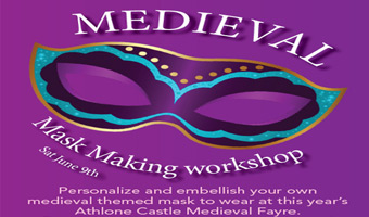 Medieval Mask Making Workshop with Michele Fox Bell at Luan Gallery Athlone