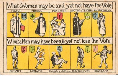 Irish women's suffrage campaign school art competition