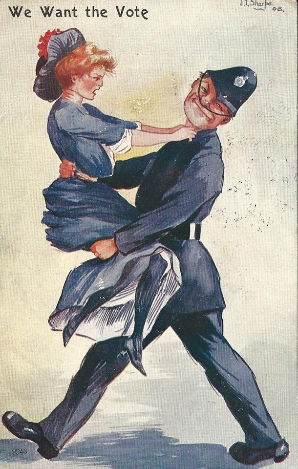 Anti Suffragette postcard circa 1912