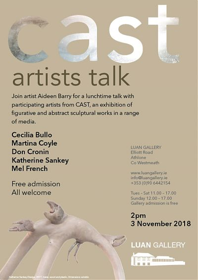 CAST Artists Talk at Luan Gallery with Artist Aideen Barry and participating artists