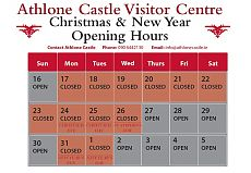 Athlone Castle Visitor Centre Christmas and New Year Opening Hours 2018