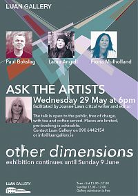 Ask the Artists with Paul Bokslag, Laura Angell and Fiona Mulholland, facilitated by Joanne Laws