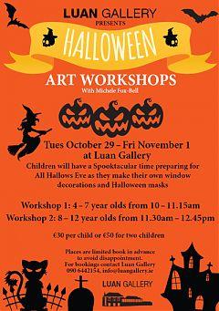 Children's Halloween Workshop at Luan Gallery