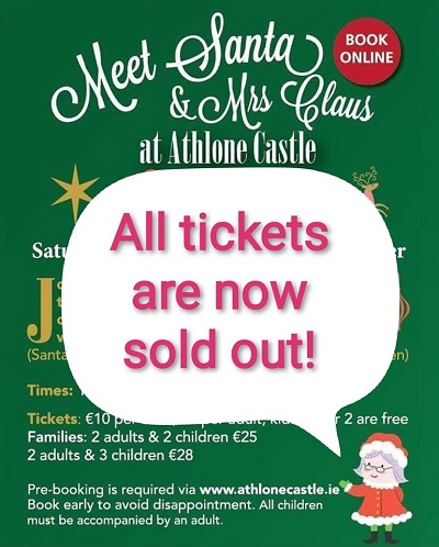 Meet Santa and Mrs Claus at Athlone Castle!