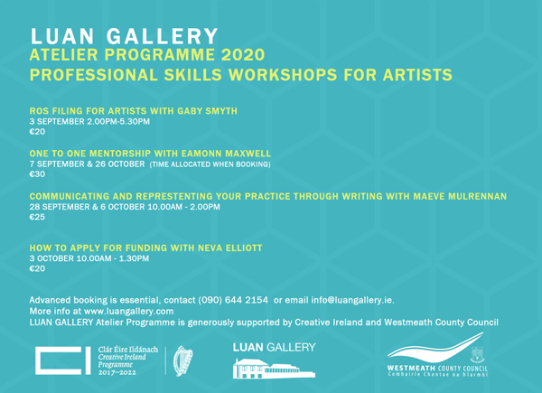Atelier 2020 Workshops at Luan Gallery