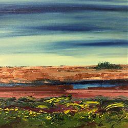 Title: Gorse on Bog  Artist: Ann Mc Guinness Year:2019 Medium: Oil on Canvas  Dimensions:50x60cm Price:€320