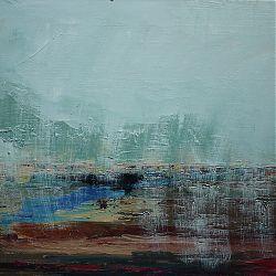 Title: Rain on Bog Artist: Ann Mc Guinness Year:2014 Medium: Oil on Canvas  Dimensions:55x70cm Price:€400