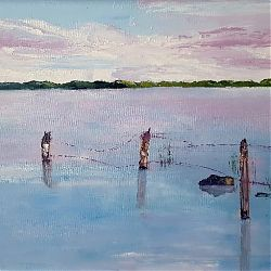 Title:Lakeshore Artist:Ann Mc Guinness Year:2019 Medium:Oil on Canvas  Dimensions:34x44cm Price:€280