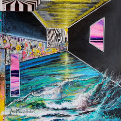 Title: Perception & Perspective Piece 2 Artist: Anna Boles Year:2020 Medium: Mixed Media on Canvas  Dimensions:46cm x 46cm Price:€500