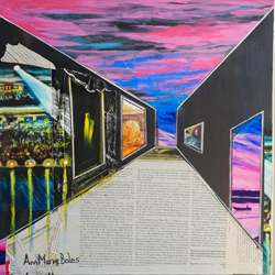 Title: Perception & Perspective, Piece 3 Artist: Anna Boles Year:2020 Medium: Mixed Media on Canvas Dimensions:46cm x 46cm Price:€500