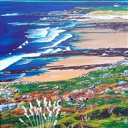 Title: Fanore Beach  Artist: Catherine Brennan Year:2020 Medium: Acrylic on canvas  Dimensions:60 x 80 cm Price:€400