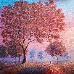 Title: Distance Between Us Artist: Chris Quinlan Year: 2020 Medium: Acrylic on Canvas Dimensions: 90cmx90cm Price: €3200