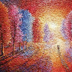 Title: Infinite Moments Artist: Chris Quinlan Year: 2020 Medium: Acrylic on Canvas Dimensions: 100cmx700cm Price: €2100