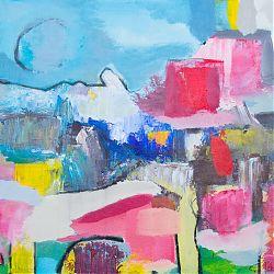 Title: Ramallah Rubble Artist: Ciara Tuite Year: 2019 Medium: Acrylic, Oil Bar & Charcoal on Canvas Dimensions: 50 x 60cm Price: €480