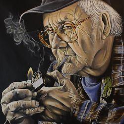 Title: Smoke Break Artist: Colm Noonan Year: 2015 Medium: Acrylic on Canvas Dimensions: 102 x 76cm Price: €1200