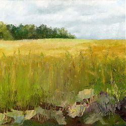 Title: Corn Field Artist: Hazel Greene Year: 2019 Medium: Oil Dimensions: 30 x 25cm Price:€200