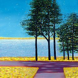 Title: Tall Trees Belvedere Artist: Liz Johnson Year: 2007 Medium: Acrylic on Canvas Dimensions: 50 x 50cm Price:€485