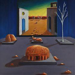 An Acrylic Painting in an Oil Painting by Olivia Finn, Luan Gallery Art Fair